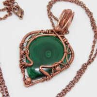 Elven Malachite Necklace thumbnail