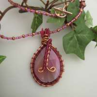 Pink Fairy Style Gemstone Necklace thumbnail