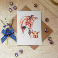 'Foxy Mama' Greeting Card thumbnail