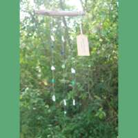 Three Strand Sea Glass and Driftwood Mobile thumbnail
