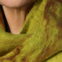 Gooseberry and Ginger Merino Wool Scarf thumbnail