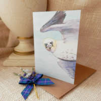 'What You Sayin'?' Gannet Greeting Card thumbnail