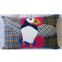 Decorative Flying Puffin Cushion thumbnail