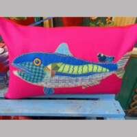 Mick the Mackerel Decorative Pillow Cushion thumbnail
