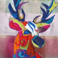 Decorative Stag Pop Art Cushion thumbnail