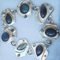 Labradorite's on Silver Bracelet thumbnail