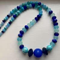 Happy Jumble of Blues Necklace thumbnail