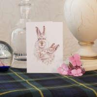 Hairy Hares Greeting Card thumbnail
