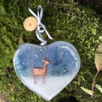 Stag Glass Heart thumbnail