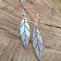 Long Leaf Earrings thumbnail