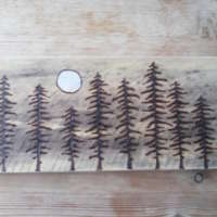 Moonlit Pine Trees - Large thumbnail