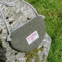 Green Harris Tweed Shoulder Bag thumbnail