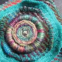 Harris Tweed Brooch - Turquoise thumbnail