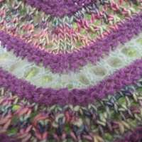 Purple and Green Shawl thumbnail