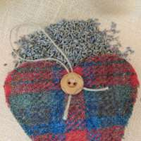 Harris Tweed Multi-coloured Heart Decoration thumbnail