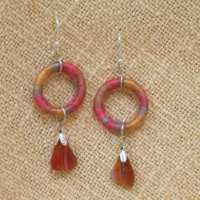 Red Silk Earrings thumbnail