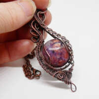 Iolite with Sunstone Necklace thumbnail