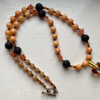 Orange and Black Necklace thumbnail