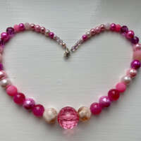 Pink and Mix Necklace thumbnail
