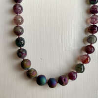 Green and Rose Agate Necklace thumbnail