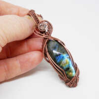 Wire Wrapped Labradorite Necklace thumbnail