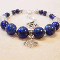 Lapis Lazuli Memory Wire Bracelet thumbnail