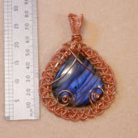Large Wire Wrapped Labradorite Pendant thumbnail