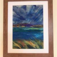 'Colours of the Hebrides' Felted Fibre Art thumbnail