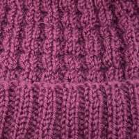 Hand Knitted Maroon Wool Hat thumbnail