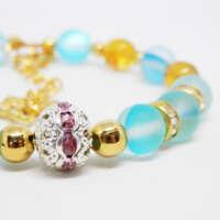Blue 'Mermaid' Bead Bracelet thumbnail