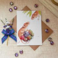 'Just Dropping By' Greeting Card thumbnail