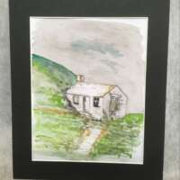 Mountain Bothy Original Watercolour thumbnail