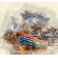 Old Boat, Plockton (Digital Watercolour) thumbnail