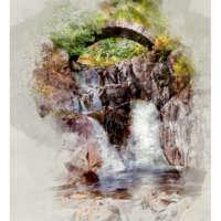 Old Bridge, Cluanie (Digital Watercolour) thumbnail