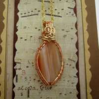 Burnt Orange Agate Pendant thumbnail