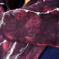 Plum Wine Merino Wool Scarf thumbnail