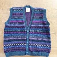Peerie Waistcoat Pacific Blue thumbnail