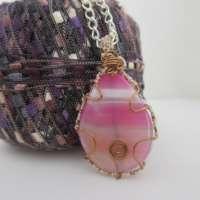 Pink Agate Pendant thumbnail