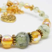 Prehnite Memory Wire Bracelet thumbnail