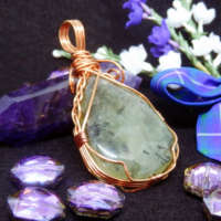 Copper Wrapped Prehnite Pendant thumbnail