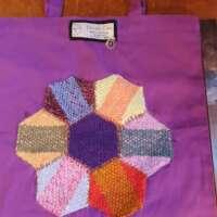 Purple Cotton Shopping Bag thumbnail