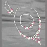 Shell Pearl and Quartz Jewellery Set thumbnail