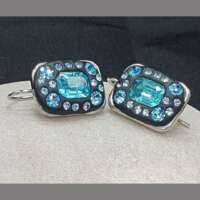 Silver Plated Jewellery Set with Austrian Crystals thumbnail
