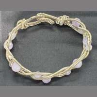 Silver Plated Wire Wrapped Amethyst Bracelet thumbnail