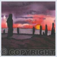 Pack of 5 Square Abstract Scotland Cards thumbnail
