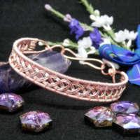 Rose Gold Plated Celtic Weave Bracelet thumbnail