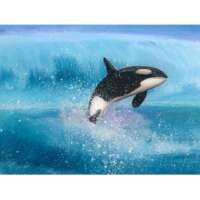 Resin Seascape with Orca thumbnail