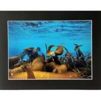 Seaweed in Blue Sea Underwater in Shetland thumbnail