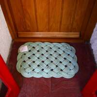 Oblong Deck Mat in Turquoise with Green Fleck thumbnail