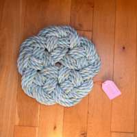 Kringle Floor Mat in Turquoise with Blue and Yellow Fleck thumbnail